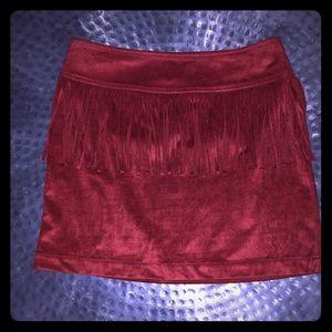 Express Suede Type Mini Skirt sz. XS